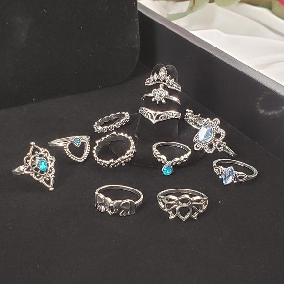 Jewelry - Boho Set of 13 Rings